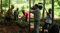 Alan Dater and Eda Filming at Mirichu Nursery, Kenya