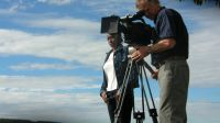 Alan Dater And Eddah Kiruhi, filming Taking Root in Kenya