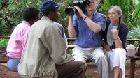 Alan Dater and Lisa Merton, filming Taking Root in Tumutumu Hills, Kenya